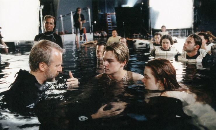 Leo DiCaprio and Kate WInslet with James Cameron